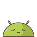 mood, sad, robot, Emoji, Mobile, Android Black icon