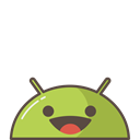 Android, successful, Mobile, smile, Emoji, happy, mood Black icon