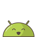 Mobile, Emoji, happy, successful, Android, mood, smile Black icon