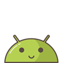 robot, smile, Android, mood, Mobile, Emoji, happy Black icon