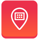 meetvibe, square, Gradient, Social Tomato icon