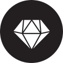 Gemz, getgems Black icon