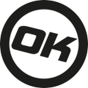 okcash, ok Black icon
