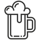 mug, beer, beverage, drink Black icon
