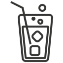 beverage, Juice, glass, soda Black icon