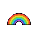 sign, meteorology, Rain, Rainbow, weather, Sunny Black icon