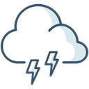 Cloud, weather, lightning, Storm, thunder Icon