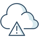 danger, Alerts, Cloud, weather Black icon