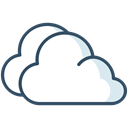 Clouds, Overcast, winter, weather Black icon