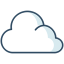Cloud, weather, Overcast, winter Black icon