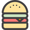 hamburger, Food And Restaurant, food, Fast food, sandwich, junk food, Burger DarkSlateGray icon