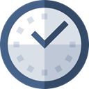 Clock, watch, miscellaneous, square, tool, Tools And Utensils, time Gainsboro icon