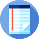 Note, Notebook, Writing Tool, writing, Tools And Utensils, interface, education, notepad CornflowerBlue icon