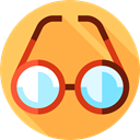 Ophthalmology, optical, eyeglasses, reading glasses, Glasses, miscellaneous, vision SandyBrown icon