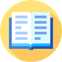 School Material, Business, leisure, reader, reading, open book, education Icon