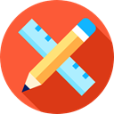 Edit, settings, Tools And Utensils, pencil, tool, ruler, education Tomato icon