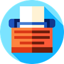 education, school, typing, Literature LightSkyBlue icon