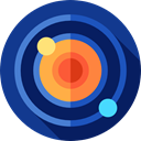 solar system, Moons, planet, Orbit, science, Astronomy, education MidnightBlue icon