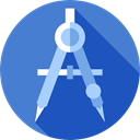 miscellaneous, School Materials, Draw, education, compass, Drawing, Tools And Utensils RoyalBlue icon