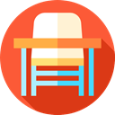 Desk Chair, education, studying, student, desk, High School Tomato icon