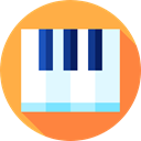 Keys, musical instrument, piano, Orchestra, Keyboard, Music And Multimedia, music SandyBrown icon