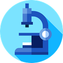 microscope, Tools And Utensils, science, Observation, education, scientific, medical LightSkyBlue icon