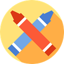 write, Crayons, Draw, Edit Tools, Pen, Tools And Utensils, education, Crayon Khaki icon