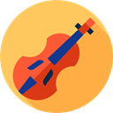 String Instrument, Music And Multimedia, musical instrument, Violin, Orchestra, music SandyBrown icon