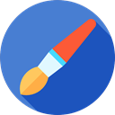 Painter, Edit Tools, Tools And Utensils, Brushes, Painting, Art, Artist, paint brush RoyalBlue icon