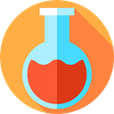 chemical, science, flask, Test Tube, education, Chemistry, Flasks SandyBrown icon