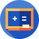 Class, Eraser, school, education, Blackboard RoyalBlue icon