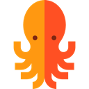 Octopus, Animal, Sea Life, Aquatic, Animals, Aquarium DarkOrange icon