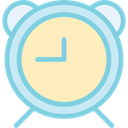 Clock, miscellaneous, time, Tools And Utensils, alarm clock Bisque icon