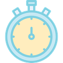 time, miscellaneous, stopwatch, Tools And Utensils, interface, Wait, timer, Chronometer Bisque icon