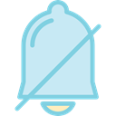 Alert, Alarm, miscellaneous, dismiss, bell PaleTurquoise icon