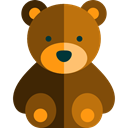 bear, children, Fluffy, Animals, puppet, teddy bear, Animal, childhood SaddleBrown icon