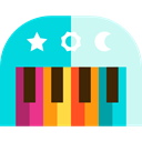 Keys, Music And Multimedia, music, musical instrument, Orchestra, piano, Keyboard DarkTurquoise icon