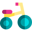 Toy, tricycle, Kid And Baby, vehicle, transportation, transport, children Black icon