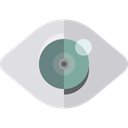 optical, Healthcare And Medical, Multimedia Option, Body Part, Ophthalmology, Eye, show Black icon
