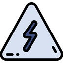 warning, Alert, electricity, danger, triangle, signs, Signaling, Bolt Lavender icon