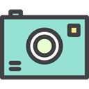 digital, technology, electronics, photograph, picture, photo camera LightBlue icon