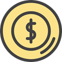 Business And Finance, Business, coin, Money, Cash, Dollar, Currency Khaki icon
