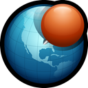 globe, pin, web, world, location, network Teal icon