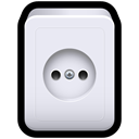 power, Socket, electricity, standard, plug Lavender icon