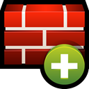 create, Add, shield, safety, Firewall Firebrick icon