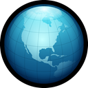 globe, web, internet, Link, world, network Black icon