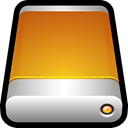 mac, storage, Disk, drive, Removable, generic Goldenrod icon