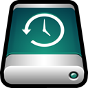 External, storage, drive, backup, Back up, machine, time DarkSlateGray icon