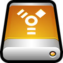 storage, Firewire, drive, Disk, Usb, External Goldenrod icon