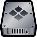 Disk, mac, Device, internal, drive, Bootcamp, hardware DarkGray icon